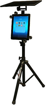 AU89 • Buy DF136 Tripod Adjustable Stand With IPad Holder For Laptop Computer Projector NEW