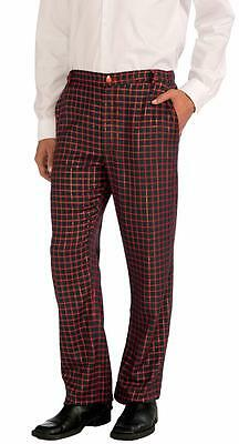 $28.66 • Buy Plaid Christmas Pants Holiday Fancy Dress Up Halloween Adult Costume Accessory