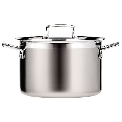 Le Creuset 3-Ply Stainless Steel Deep Casserole - 24 Cm NEW - FAST DELIVERY • 155.79£