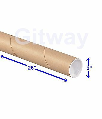 $69.23 • Buy 3  X 26  Cardboard Poster Shipping Mailing Mail Packing Postal Tube 24 Box Tubes