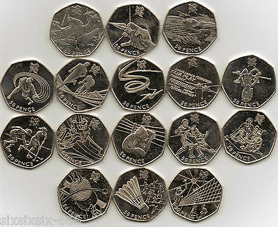 2011 Various (Circulated) Olympics 2012 50p Coins - From £1.00 • 19£