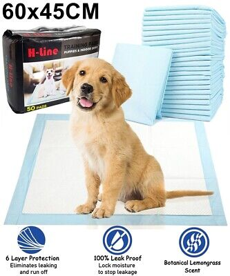 £10.49 • Buy HEAVY DUTY DOG PUPPY LARGE ABSORBENT TRAINING PADS FLOOR TOILET WEE MATS 60x45CM