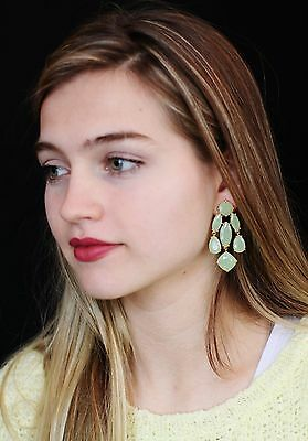 $ CDN90.10 • Buy Kate Spade Gorgeous Celedon Green Chandelier Drop Earrings Chalcedony