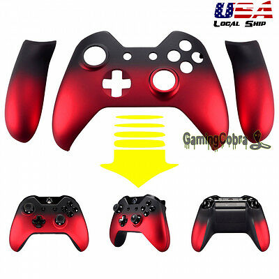 Front Housing Shell Faceplate Side Rails For Xbox One Controller Shadow Red • 9.89$