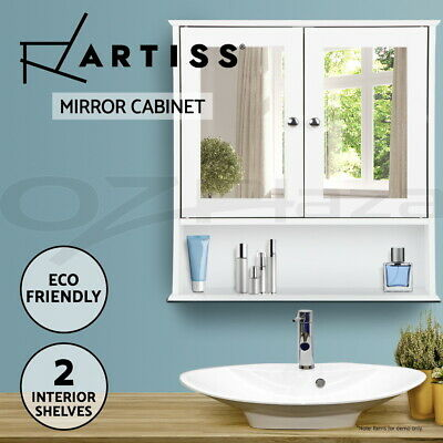 AU54.95 • Buy Artiss Storage Mirror Cabinet Bathroom Furniture Tallboy Toilet Cupboard Wall