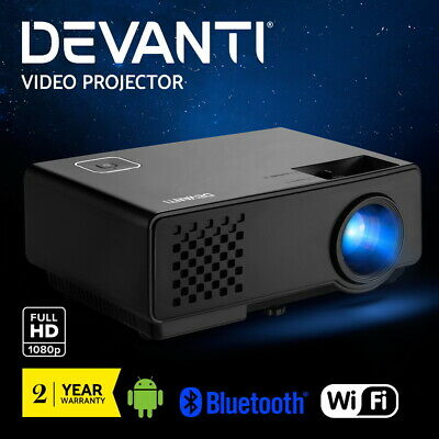 AU204.95 • Buy Devanti Mini Video Projector Portable WiFi Bluetooth Home Theater 1080P Android