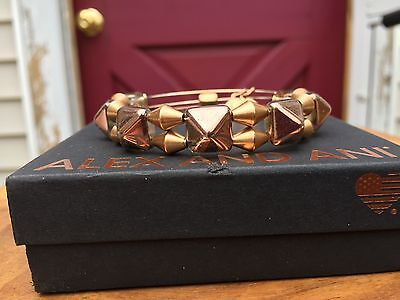ALEX And ANI VINTAGE 66 INDIE SPIRIT COPPER IMPULSE Russian Gold BEADED Bangle • 26.77£