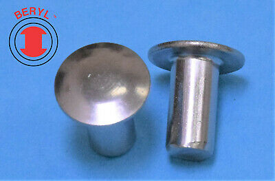 £7.12 • Buy Stainless Steel Oval Head Solid Rivets - 1/8 X9/32  OHSR180932 - 100pcs