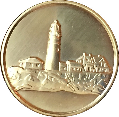 $1.87 • Buy Fog Light Prayer Lighthouse Clean Bronze Medallion AA NA Sobriety Chip Coin