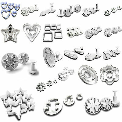 Sugar Craft Cutters And Fondant Plungers | 40+ Variations | Cake Cookie Biscuit • 4.78£