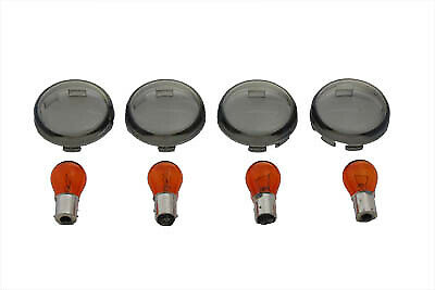 Turn Signal Dome Style Lens Kit Smoked,for Harley Davidson,by V-Twin • 34.33£