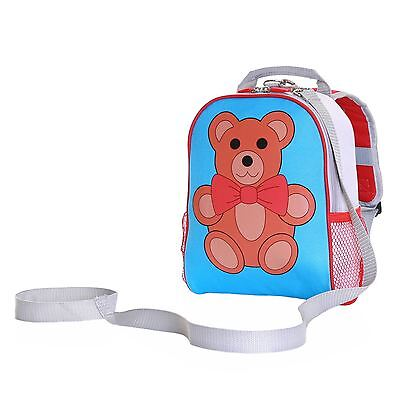Teddy Toddler Kids Boys Girls Children Rucksack Backpack Bag With Safety Rein • 9.99£