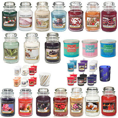 Yankee Candles Scented Wax Fragrance Long Burning 22oz Jars Scents Votive Sets • 17.99£