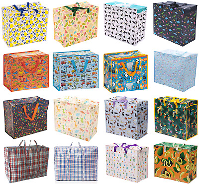 Extra Large Jumbo Laundry Shopping Bag Childrens Toy Storage Reusable Bags  • 4.75£