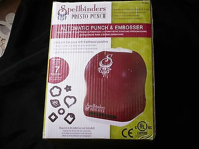 AU5.09 • Buy Spellbinders Presto Punch Automatic Punch And Embosser Machine