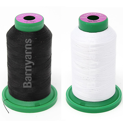 £9.25 • Buy Isacord Machine Embroidery Thread No.40 1000m X 1 Cone Each White & Black Combo