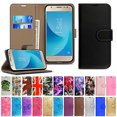 Case For Samsung Galaxy J3 J5 J4 J6 Plus J8 Phone Leather Flip Card Wallet Cover • 1.99£