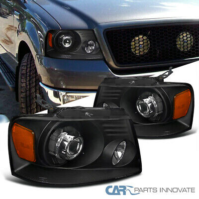 $116.57 • Buy For 04-08 F150  06-08 Mark LT Retrofit Style Black Projector Head Lamps Lights