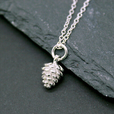 £11.80 • Buy Silver Caledonian Winter Acorn Pine Cone Silver Necklace Pendant 925 Sterling
