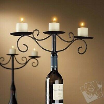 Danya B Wrought Iron Wine Bottle 3-candle Chandelier - GM10350 • 19.14£