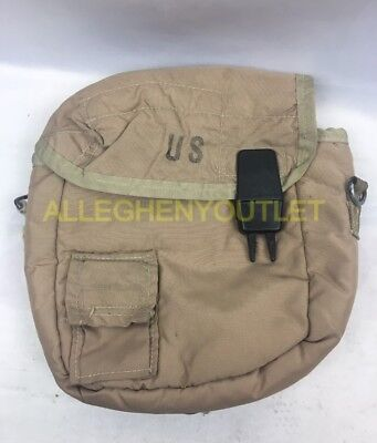$ CDN4.55 • Buy US Military 2 QT Collapsible Water Canteen Cover Pouch Desert Tan VGC