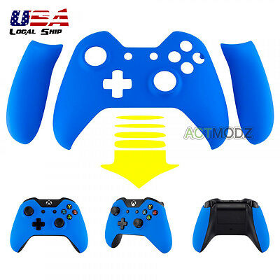 Soft Touch Blue Front Housing Shell Faceplate Side Rails For Xbox One Controller • 8.99$