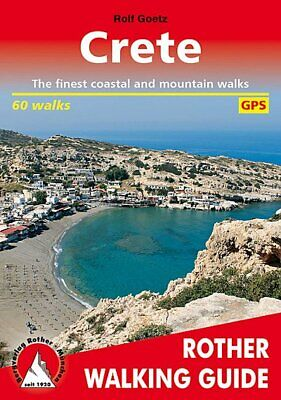 Crete - 60 Walks - Rother Walking Guide The Finest Coastal And Mountain Walks • 12.61£