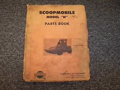 AU82.28 • Buy Scoopmobile H Front End Loader Tractor Parts Catalog Manual Manual