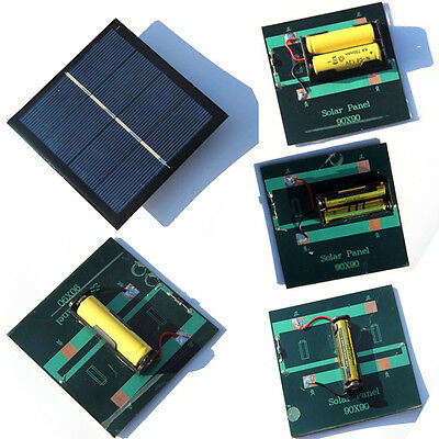 AU4.69 • Buy 4X 2X 1X Rechargeable AA/AAA Battery Solar Panel Charger W/ Base For AAA Charger