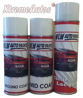 2 PACK 2K Car Body Paint BASECOAT AEROSOL TOUCH UP MIXED TO CODE READY FOR USE • 28.99£