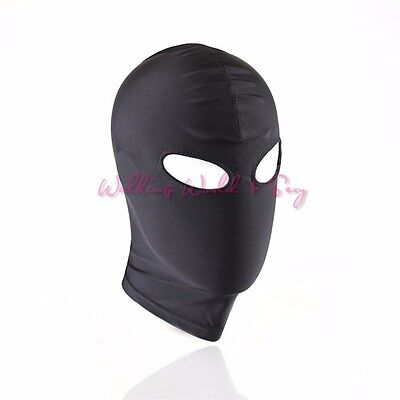£5.99 • Buy Black Spandex, Mask Hood Just Eyes No Mouth One Size PRIVATE