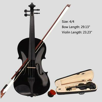 $33.59 • Buy New Student Band 4/4 Acoustic Orchestral Violin Fiddle Black With Case Bow Rosin