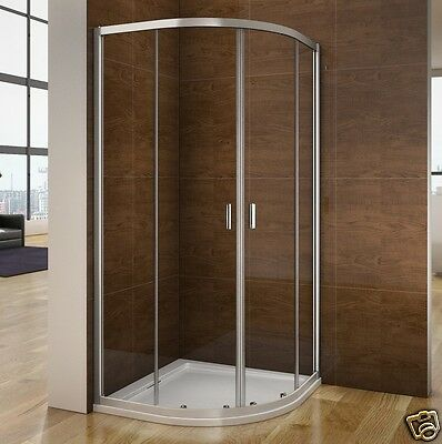 900x900 Quadrant Shower Enclosure Stone Tray & Waste Walk In Corner Cubicle Door • 133.99£