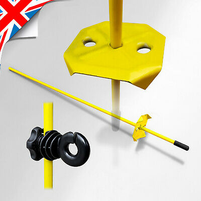 £15.99 • Buy 100cm Tall Electric Fence SOLID METAL POST Pins/Stakes Quantity Choice - Piquet