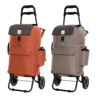 Fully Insulated Shopping Trolley Grocery Luggage Carrier Cart Bag With 2 Wheels • 29.99£