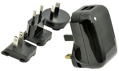 £4.99 • Buy Mercury Travel Charger With 2 USB Ports And 4 Detachable Plugs 2 X 1000mA - 5V