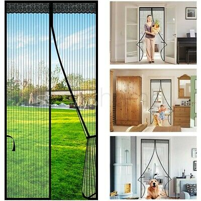 £7.95 • Buy Magic Curtain Door Mesh Magnetic Fastening Mosquito Fly Bug Insect Net Screen