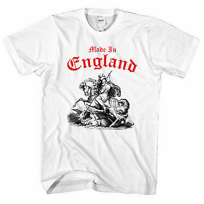 Made In England St George Slaying Dragon T SHIRT Day Festival Party Top English • 9.99£