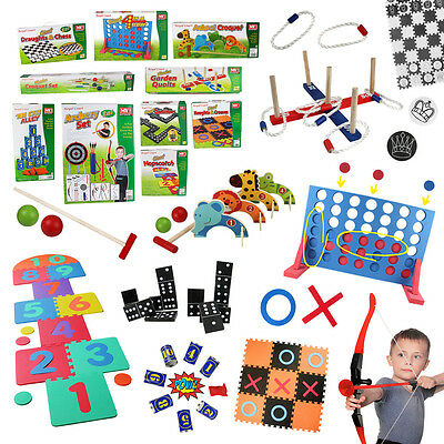 Kids Giant Outdoor Games Garden Toys Lawn Play Adults Family Fun Party School • 13.99£