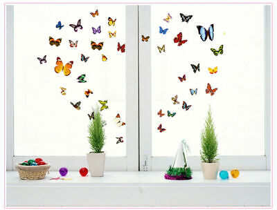 80Transperent Butterfly Wall Stickers Mural Art Home Decoration UK • 2.99£