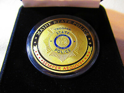 $19.99 • Buy MAINE STATE POLICE Challenge Coin W/ Presentation Box