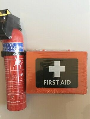 £19 • Buy  First Aid Kit 49 Piece And 600g. Powder Fire Extinguisher Home Office Car Taxi