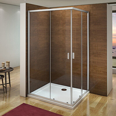 Aica 1200X800 Corner Entry Shower Enclosure Walk In Sliding Glass Screen Cubicle • 103.99£