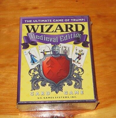 Wizard Medieval Edition Card Game  NIB  / New Sealed US Games Systems Inc • 16.89$