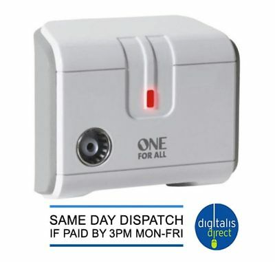 One For All SV9601 One Way Digital Freeview TV Or Radio Signal Booster Amplifier • 10.49£