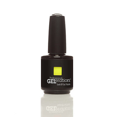 Authentic Jessica GELeration UV LED 15ml Soak Off Gel Nail Polish - YELLOW Flame • 7.16£