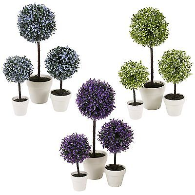 Decorative Artificial Outdoor Ball Plant Tree Pot Colour Small Medium Large • 9.99£