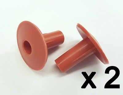 £6.39 • Buy Plastic Hole Tidy Wall Grommet Cover Single Coax Aerial Cable Entry Brown X 2