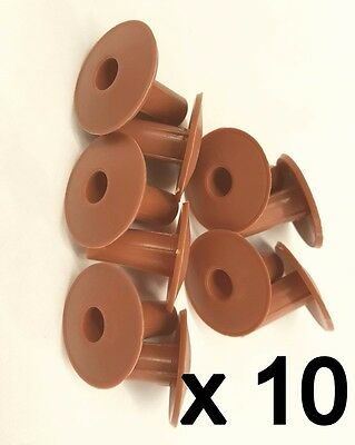 £8.99 • Buy Plastic Hole Tidy Wall Grommet Cover Single Coax Aerial Cable Entry Brown X 10