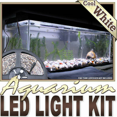 AU23.16 • Buy Aquarium Fish Tank White LED Lighting Strip + Dimmer + Remote + Wall Plug 110V